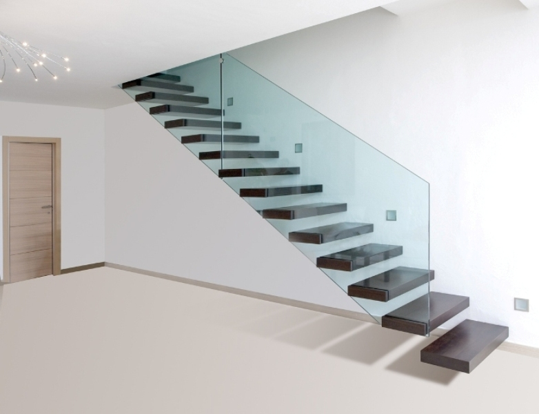 Eccezionale Scale a Sbalzo - Ghost finitura wengè - Alfa Scale CY12