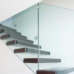 Scale a Sbalzo, gradini in legno e ringhiera in vetro - Ghost - Alfa Scale