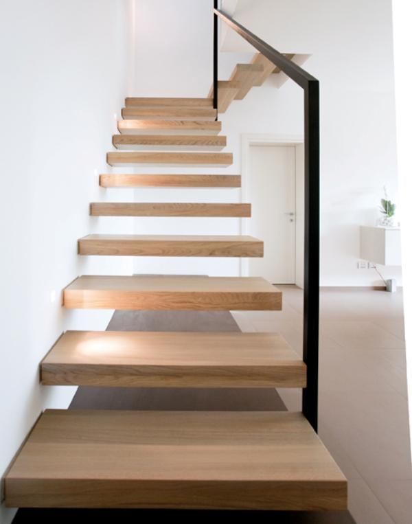 Scale a giorno a sbalzo in legno ghost alfa scaleafascale - Scale interne in legno ...