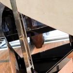 scale in ferro a chiocciola con scorrimano in Alcantara-elica glass-alfa scale
