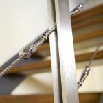 Particolare scale interne in ferro e legno Elite Line wood- Alfa Scale