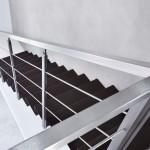 particolare scale a sbalzo step, in lamiera piegata , ferro- Alfa Scale