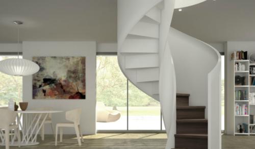 Scale per interni in legno alfa scaleafascale - Scale a chiocciola interne ...