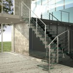 glass stairs-moden glass-alfascale