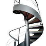 iron stairs-elica wood-alfascale