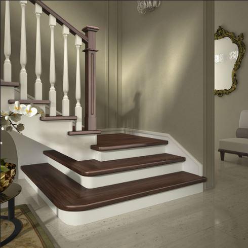 Scale a giorno in legno per interni mod a bicolorafascale - Scale per interni in legno ...