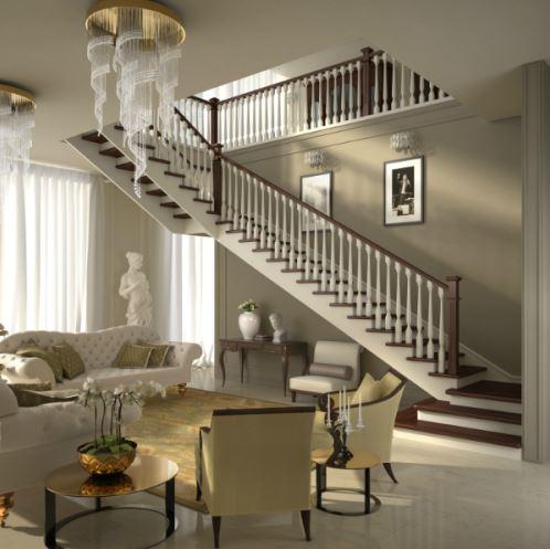 Scale a giorno in legno per interni mod a bicolorafascale - Colori per scale interne ...