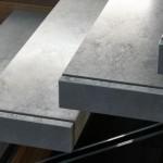 Scale a giorno in Gres Porcellanato. Scale a Sbalzo - AlfaScale - Mod. Ghost Stone Crystal Plus