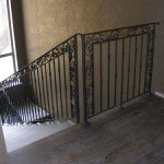 Scale Interne Classiche in legno di rovere e ringhiera in ferro battuto - Alfa Scale
