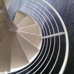 Ringhiera in acciaio verniciato modello AIR 6C per scala a chiocciola- Alfa Scale